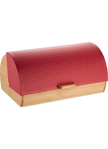 Bayev Ekmek Kutusu - Kırmızı Çizgili Kırmızı